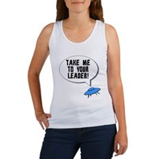Take Me To Your Leader Womens Tank Top