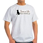 Adopt Homeless Lab Ash Grey T-Shirt