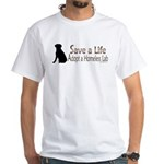 Adopt Homeless Lab White T-Shirt