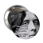 Playwright Oscar Wilde Button