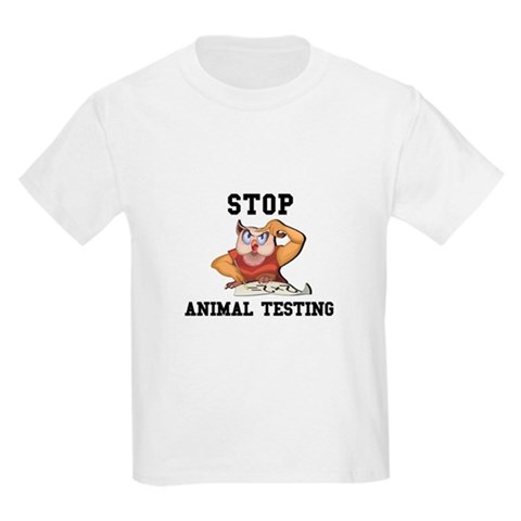 stop animal testing pictures. Stop Animal Testing Kids T-