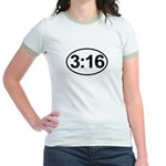 John 3:16 Christian Bible Verse Jr. Ringer T-Shirt