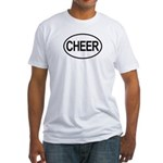 Cheer Cleerleading Cheerleader Oval Fitted T-Shirt
