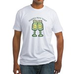 Happy New Years Toast Fitted T-Shirt