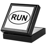 Run Runner Running Track Oval Keepsake Box