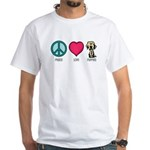 Peace Love & Labs White T-Shirt