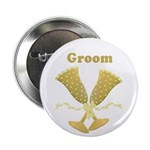 Golden Groom Button