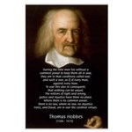 Thomas Hobbes: War Large Poster