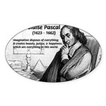Mathematics: Blaise Pascal Oval Sticker