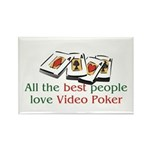Video Poker Rectangle Magnet (10 pack)