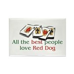 Red Dog Rectangle Magnet (10 pack)