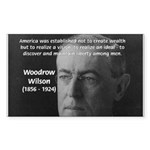 Woodrow Wilson Rectangle Sticker