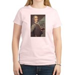 French Philosopher: Voltaire Women's Pink T-Shirt