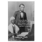 Lincoln with Sojourner Truth Large Poster
