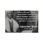 Lincoln with Sojourner Truth Rectangle Magnet (10