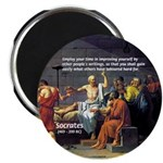Socrates: Knowledge Books Wisdom Magnet