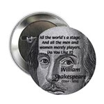 Playwright William Shakespeare Button