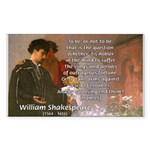 Hamlet Famous Soliloquy Rectangle Sticker