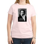 Schopenhauer Philosophy Truth Women's Pink T-Shirt