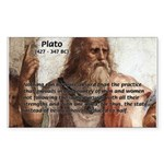 Plato: Philosophy / Equality Rectangle Sticker