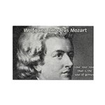 Music, Genius and Mozart Rectangle Magnet