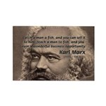 History Analyst Karl Marx Rectangle Magnet (10 pac