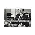 Humanist John F. Kennedy Rectangle Magnet (10 pack