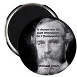 "William James Life and Change 2.25"" Magnet (100 pa"