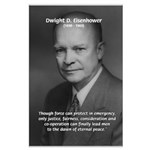 Peace and Justice Eisenhower Large Poster