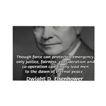 Peace and Justice Eisenhower Rectangle Magnet (10
