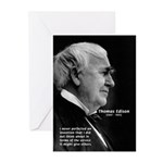 Inventor Thomas Edison Greeting Cards (Package of