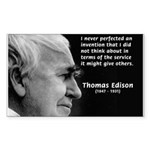 Inventor Thomas Edison Rectangle Sticker