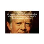 War and Peace: Jimmy Carter Rectangle Magnet