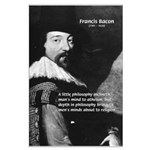 Philosopher Francis Bacon Large Poster