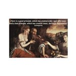 Pythagoras Quote on Women Rectangle Magnet