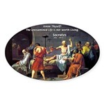 Know Thyself Socrates Quote Oval Sticker