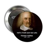 "Thomas Hobbes Truth 2.25"" Button (100 pack)"