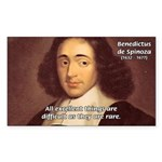 Spinoza Ethics Philosophy Rectangle Sticker