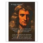 Sir Isaac Newton Space Small Poster