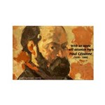 Cezanne Famous Paris Quote Rectangle Magnet (100 p