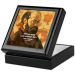 Cezanne Famous Paris Quote Keepsake Box