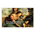 Leonardo da Vinci Art Spirit Rectangle Sticker