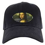 Mona Lisa: Da Vinci Quote Black Cap