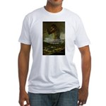Goya Colossus Fantasy Quote Fitted T-Shirt