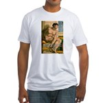 Michelangelo Nude Painting Fitted T-Shirt