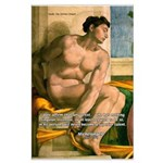 Michelangelo Nude Painting Large Poster