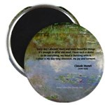 """Monet Painting: Beauty Quote 2.25"""" Magnet (10 pack"""