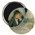 "Female Artist Morisot Quote 2.25"" Magnet (100 pack"