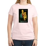 Raphael Madonna Painting Women's Pink T-Shirt