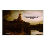 Rembrandt Painting & Quote Rectangle Sticker